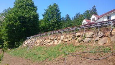 PV-Steinmauer
